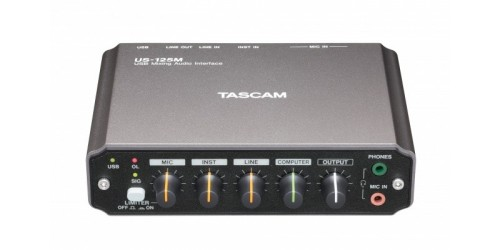 Tascam US-125M Interfaz de Audio