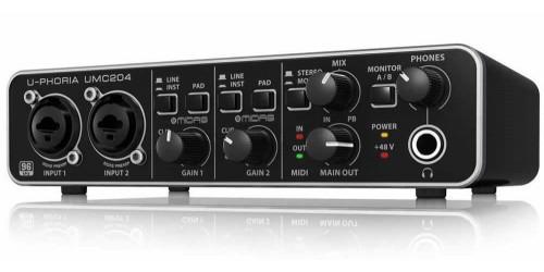 Behringer U-PHORIA UMC204 Interfaz de Audio