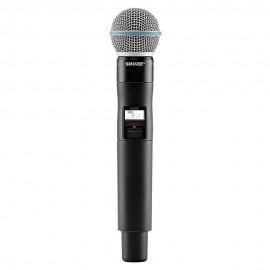 Shure QLXD2/BETA58A Micrófono Inalámbrico de Mano
