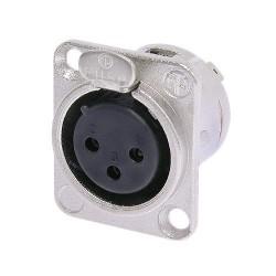 Neutrik NC3FD Conector XLR para montaje en panel