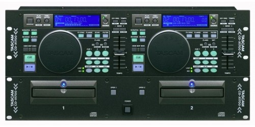 Tascam CD-X1700 Compactera MP3 doble de DJ