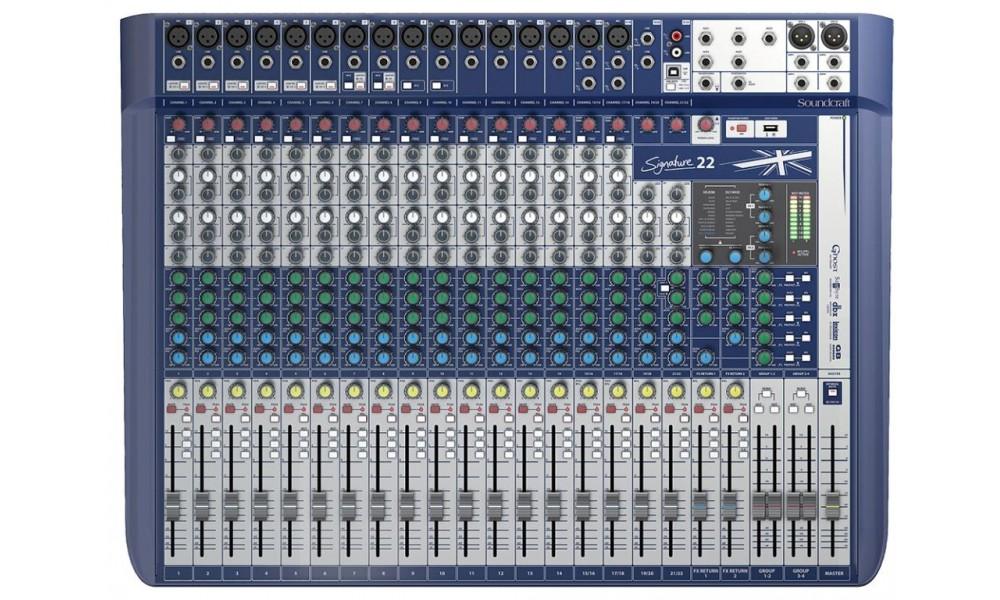 soundcraft signature 22 mezcladora anal gica plaza music per. Black Bedroom Furniture Sets. Home Design Ideas